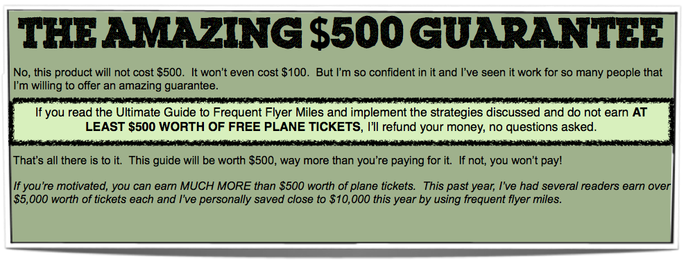 Amazing $500 Guarantee (new)
