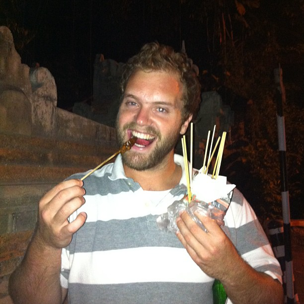 Chicken satay from an 80 year old street vendor in the middle of nowhere?  Yes please!