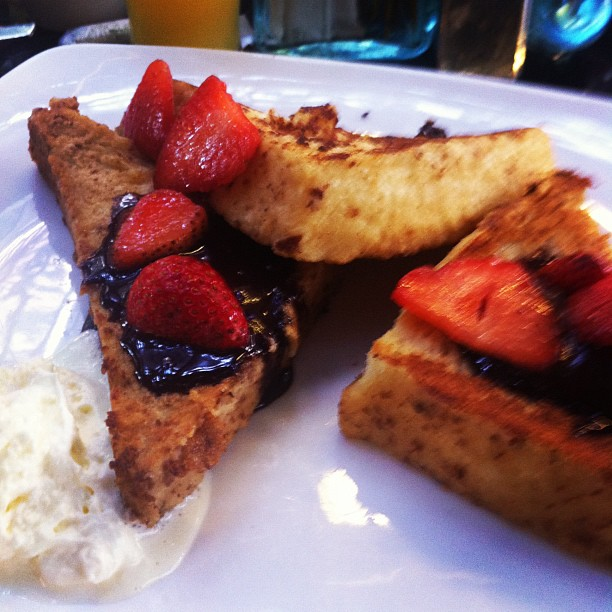 The french toast at The Haven, memorable in its own right.