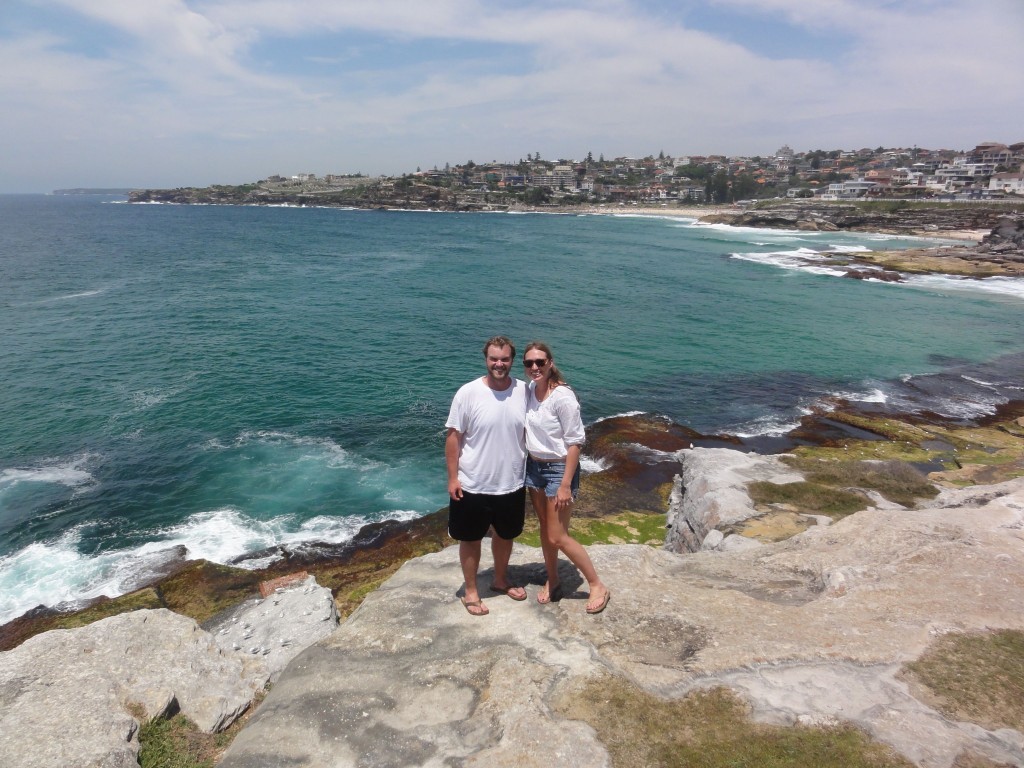 Walking the cliffs from Bondi Beach to Coogee.