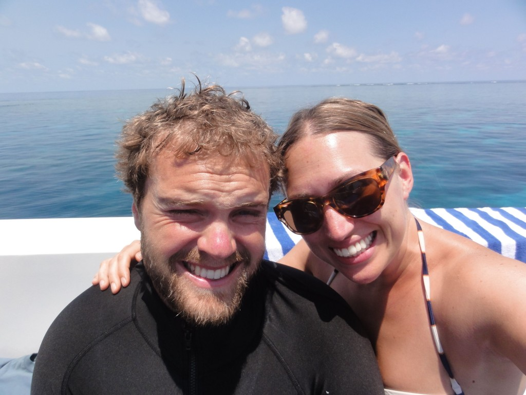 Before our first plunge in to the world of scuba!
