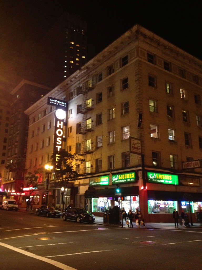 HI-SF Downtown Hostel, one block from Union Square and in the heart of the action.