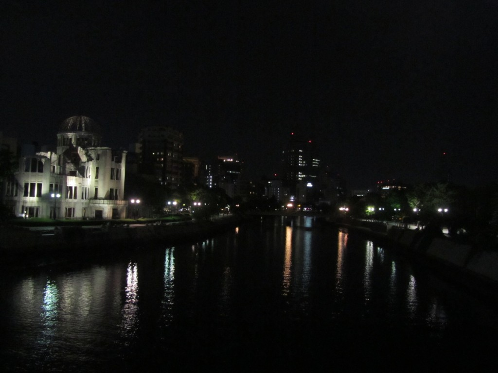 The A-bomb dome surrounded by modern Hiroshima