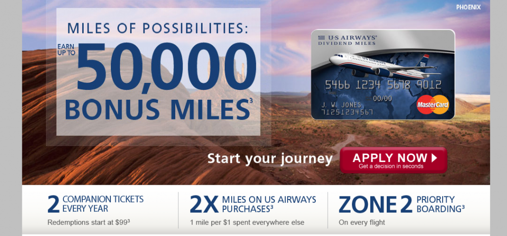 Barclays USAirways card offer