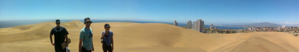 Panoramic from the desert outside of Vina del Mar.
