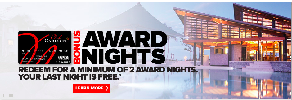 Club Carlson Free Award Nights