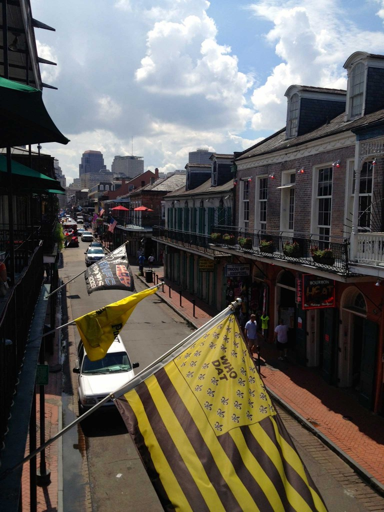 A look down Bourbon Street