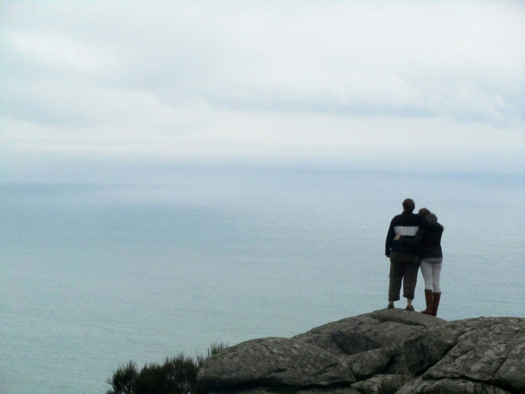 "At the ""edge of the world"" in Finisterre, once believed to be the westernmost point in Europe."