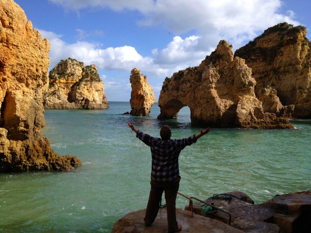 The incredible limestone cliffs in Lagos, Portugal