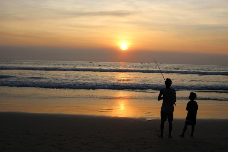 Sunset-Beach-Fishing